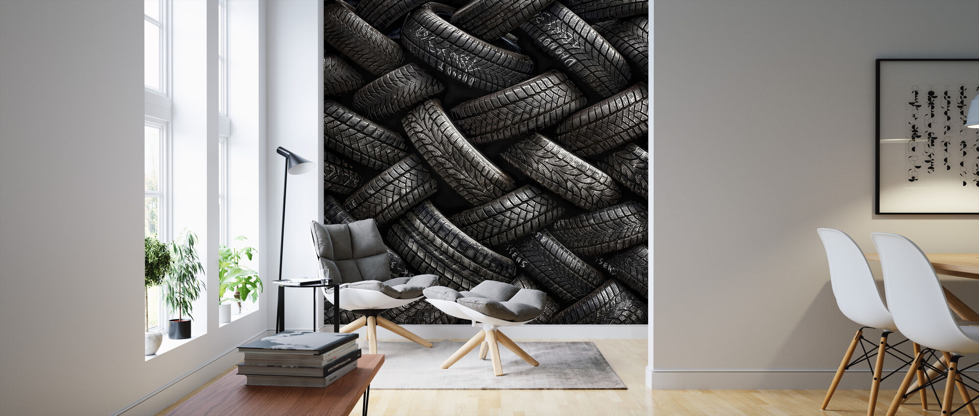 Tire tread trendy wall mural photowall - Tire tread wallpaper ...