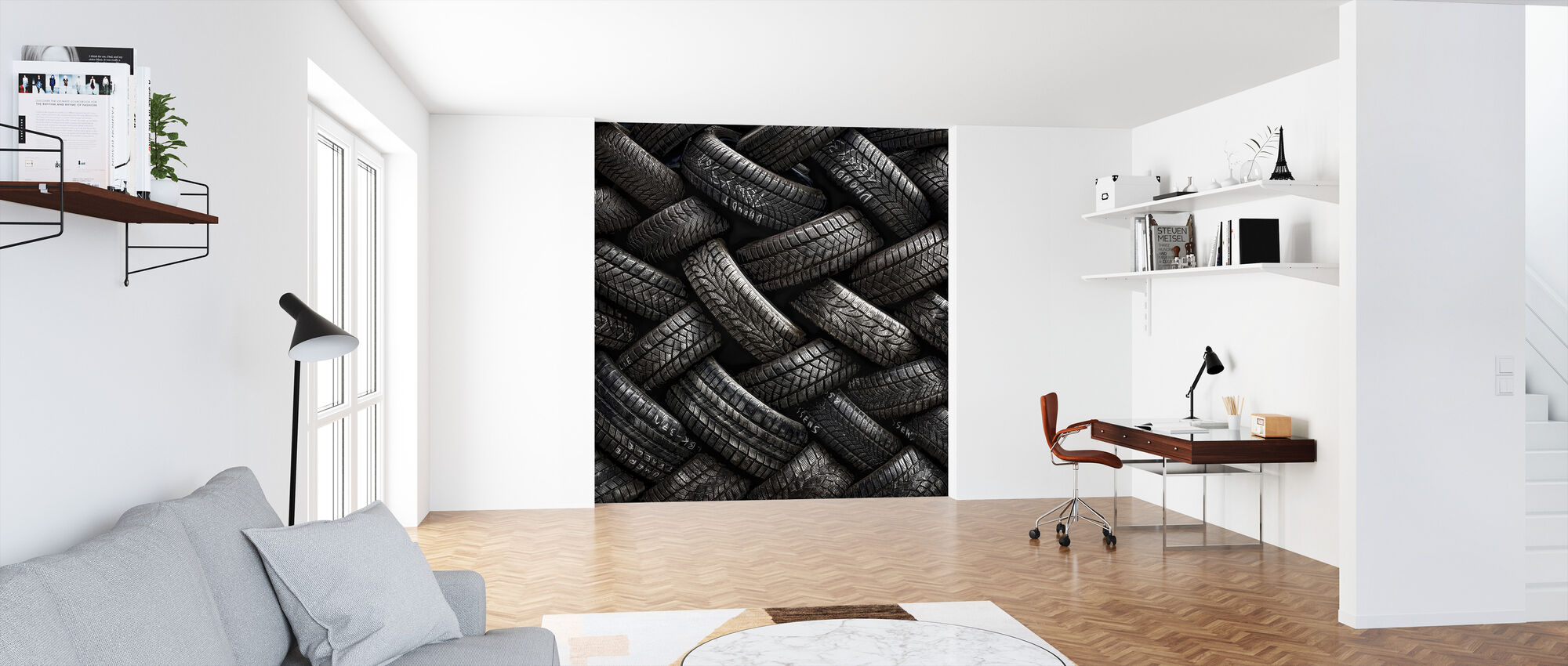 Tire Tread - Wallpaper - Office