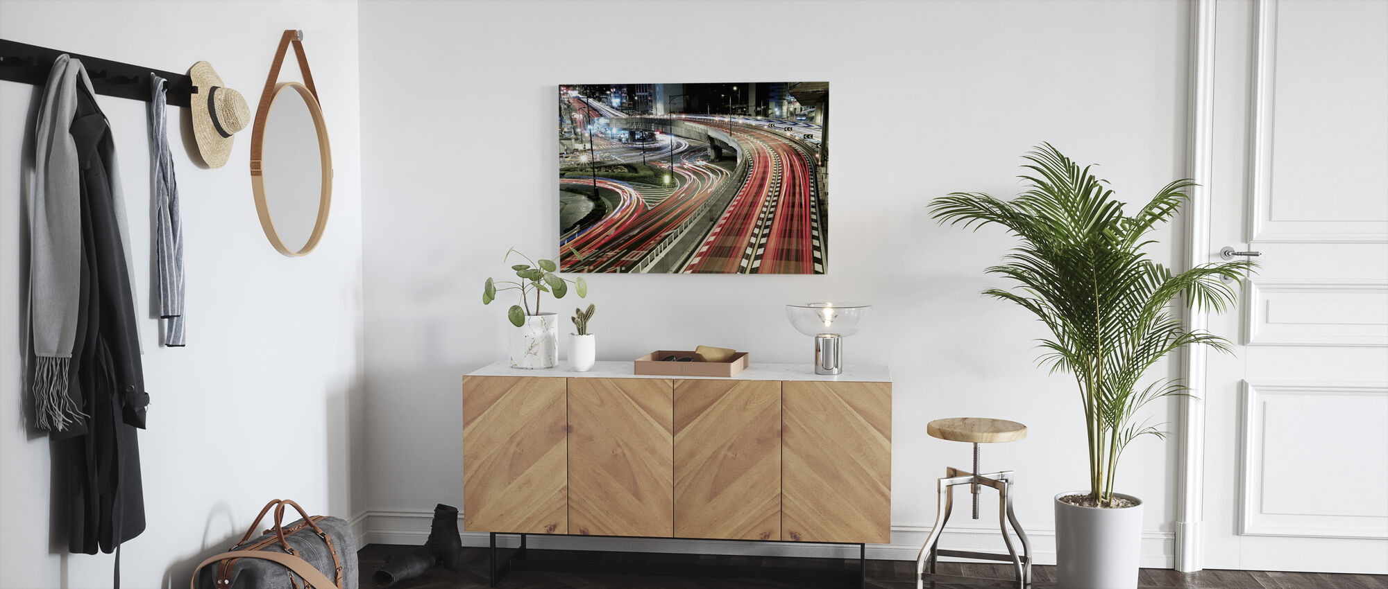 Chaotic traffic - Canvas print - Hallway