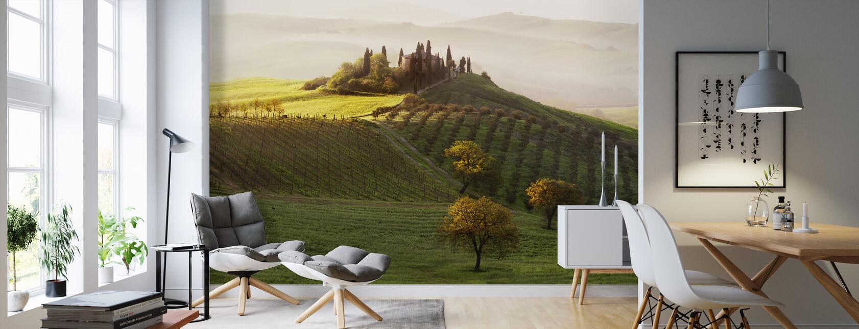 Green Landscape - Wallpaper - Living Room