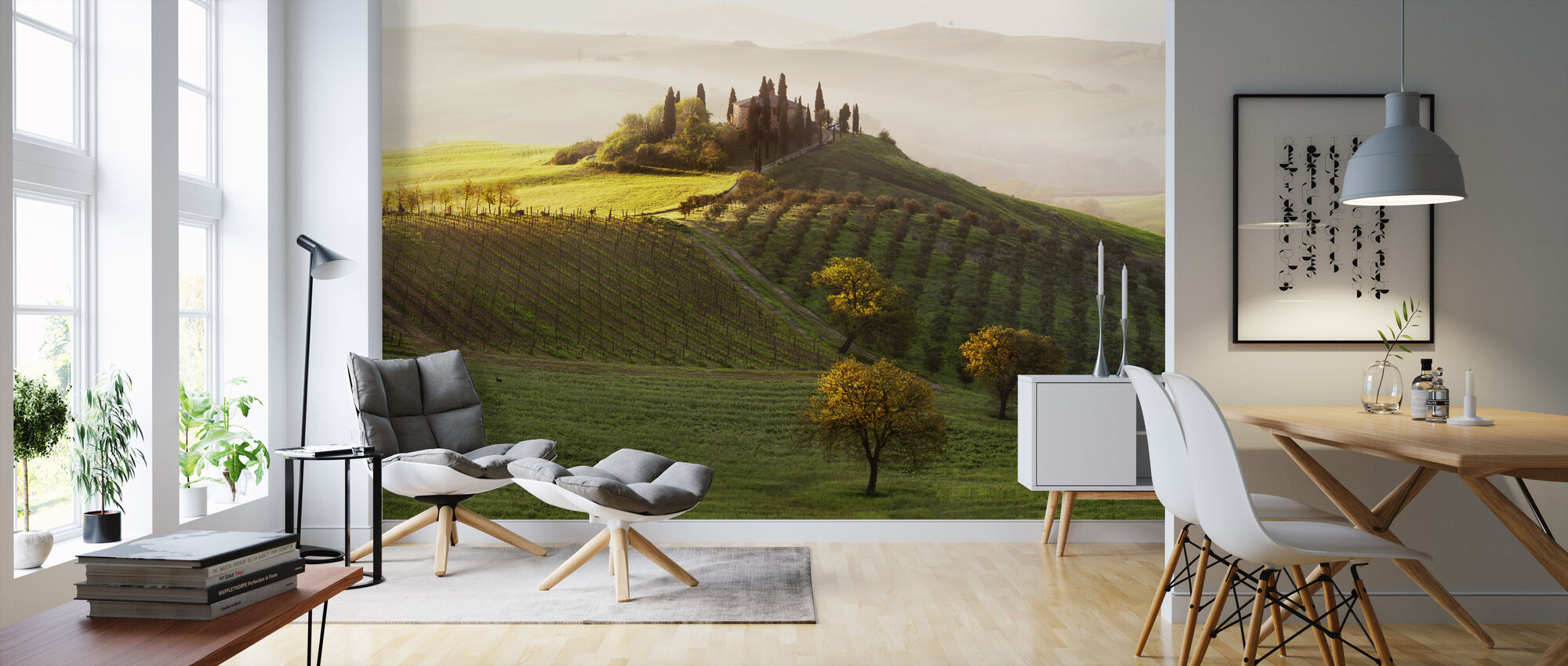 Green Landscape - Wallpaper - Living Room
