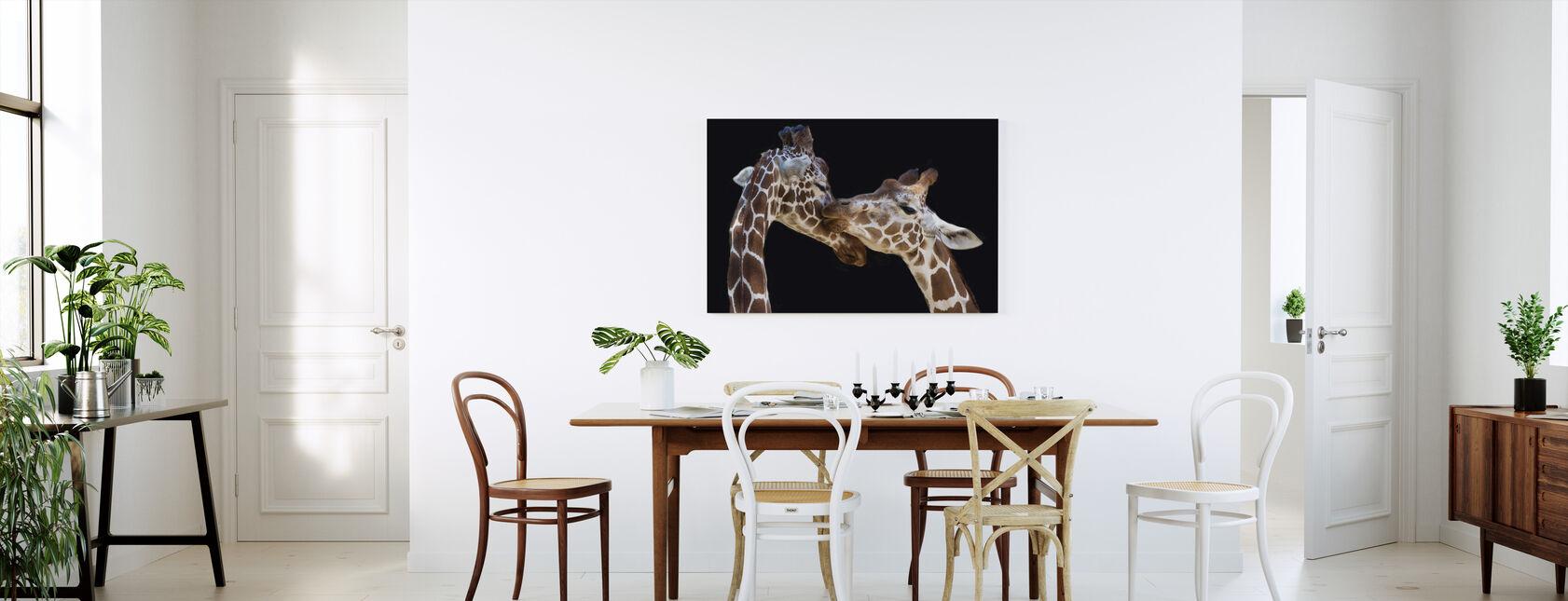Giraffes Kissing - Canvas print - Kitchen