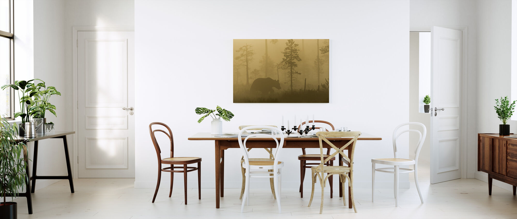 Bear in Morning Fog - Canvas print - Kitchen