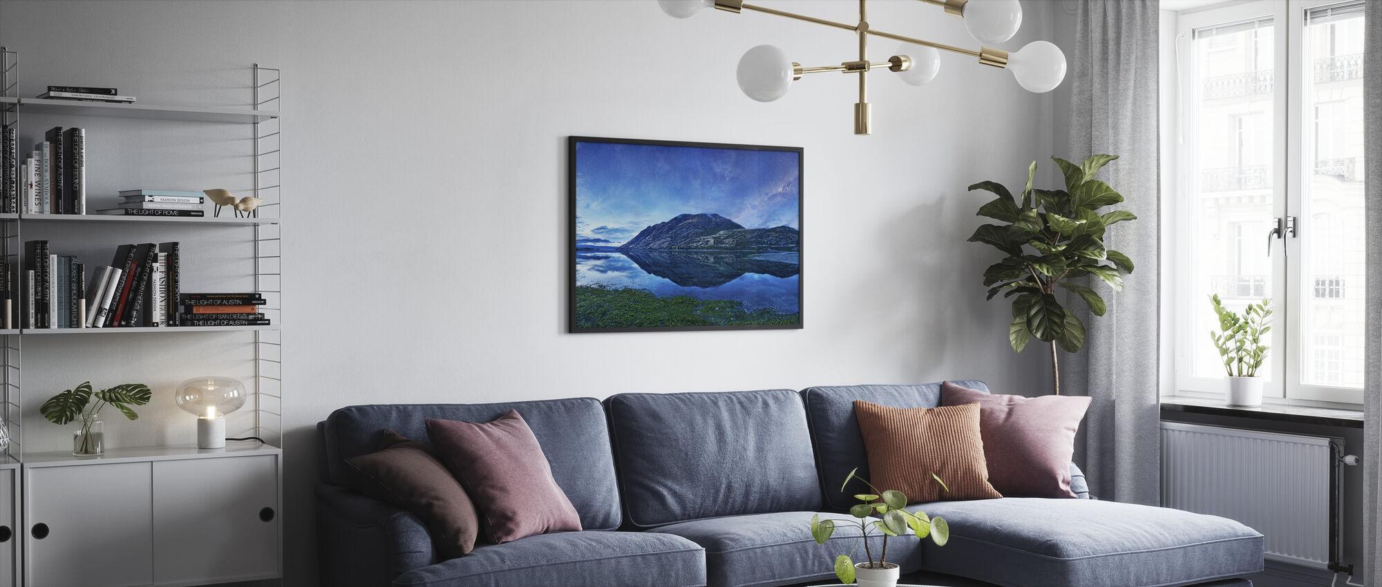 Lake Hawea, NZ - Framed print - Living Room