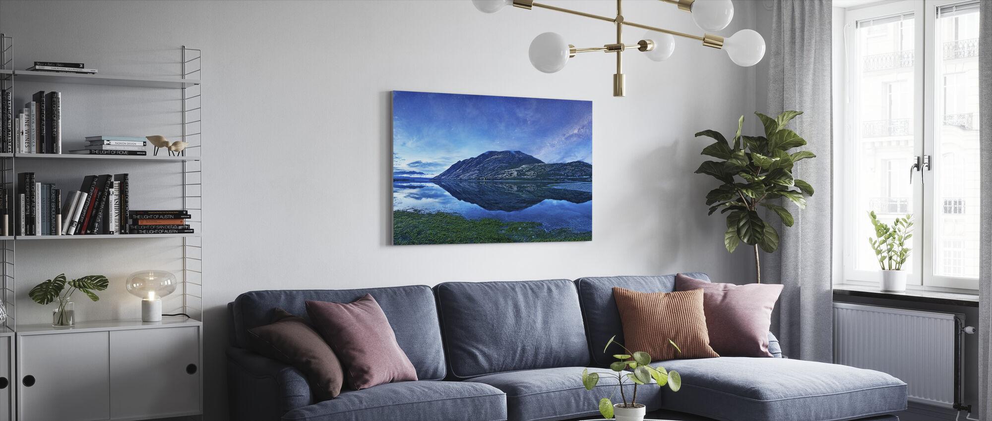 Lake Hawea, NZ - Canvas print - Living Room
