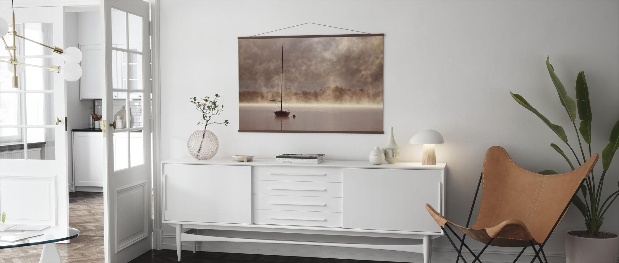 Misty Boatride - Poster - Living Room