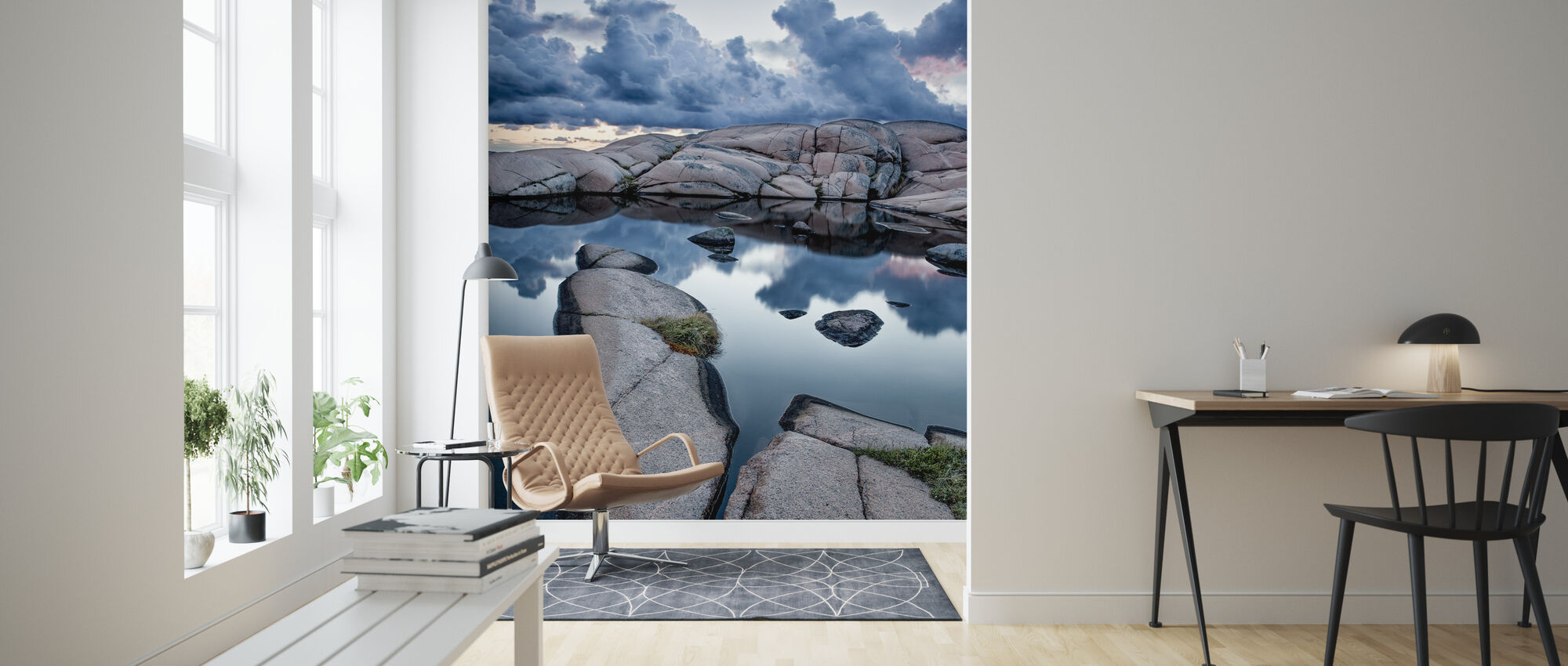 Stones and Water - Wallpaper - Living Room