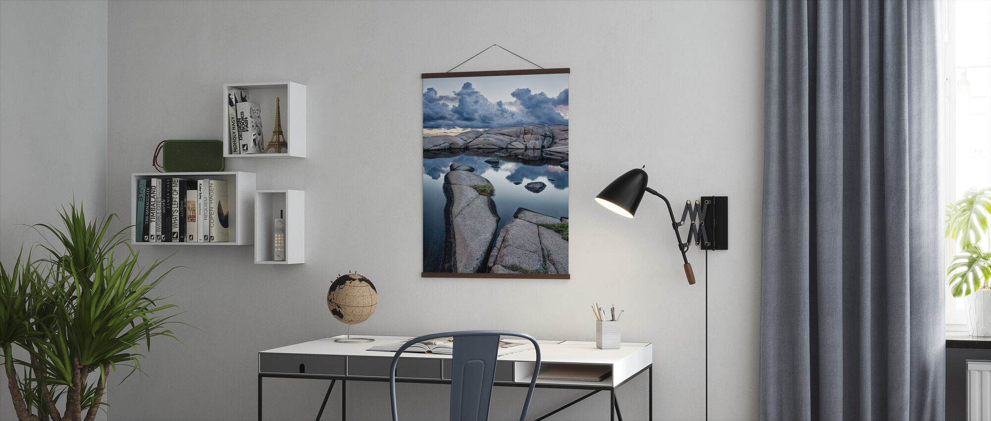 Stenar och vatten - Poster - Kontor