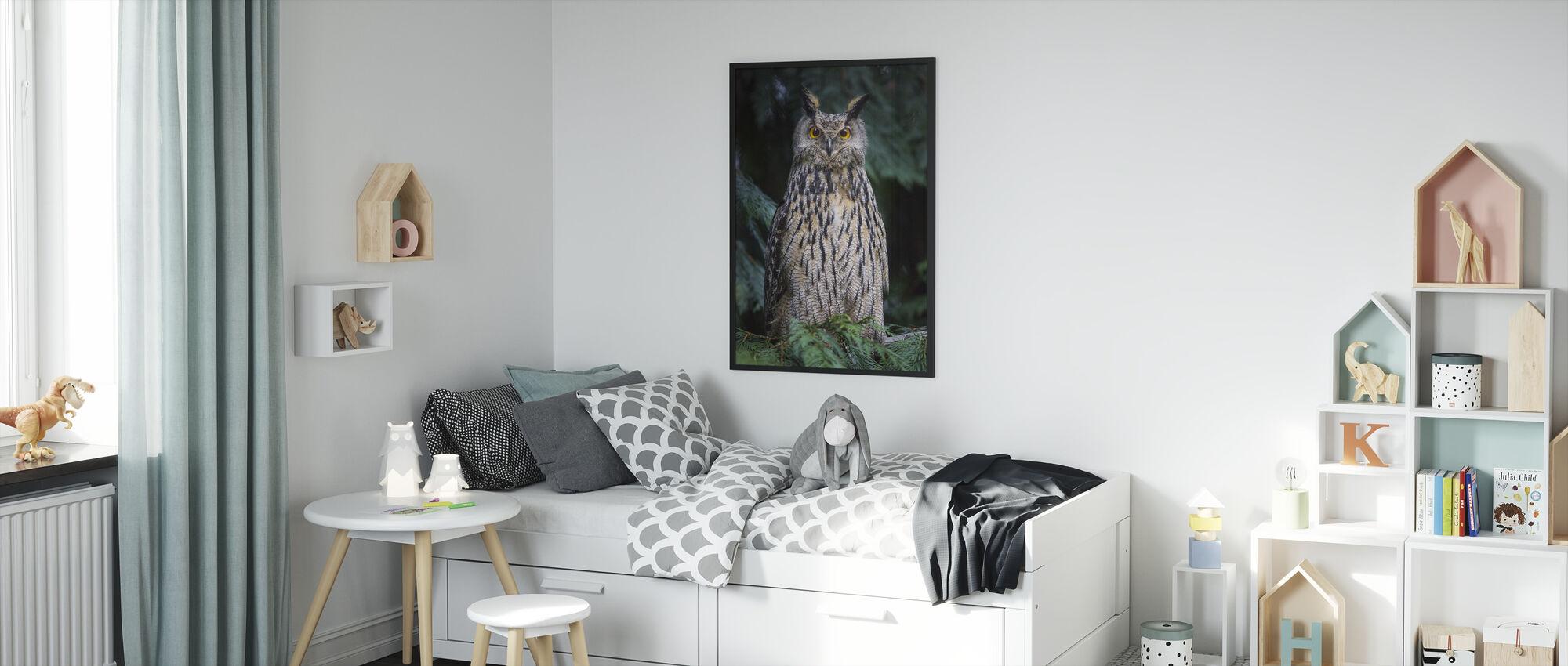 Owl - Framed print - Kids Room