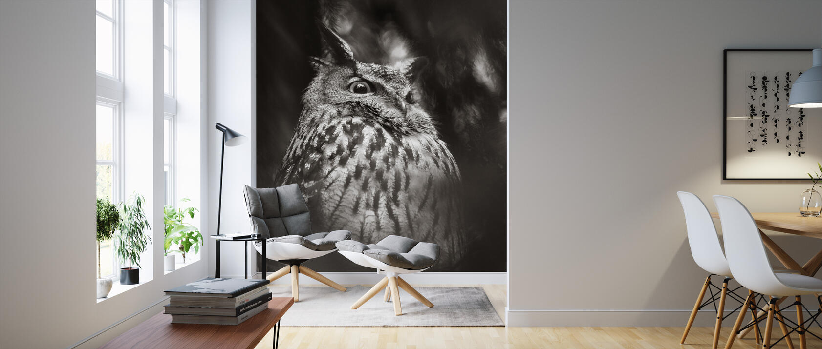 misty owl fototapete nach ma photowall. Black Bedroom Furniture Sets. Home Design Ideas