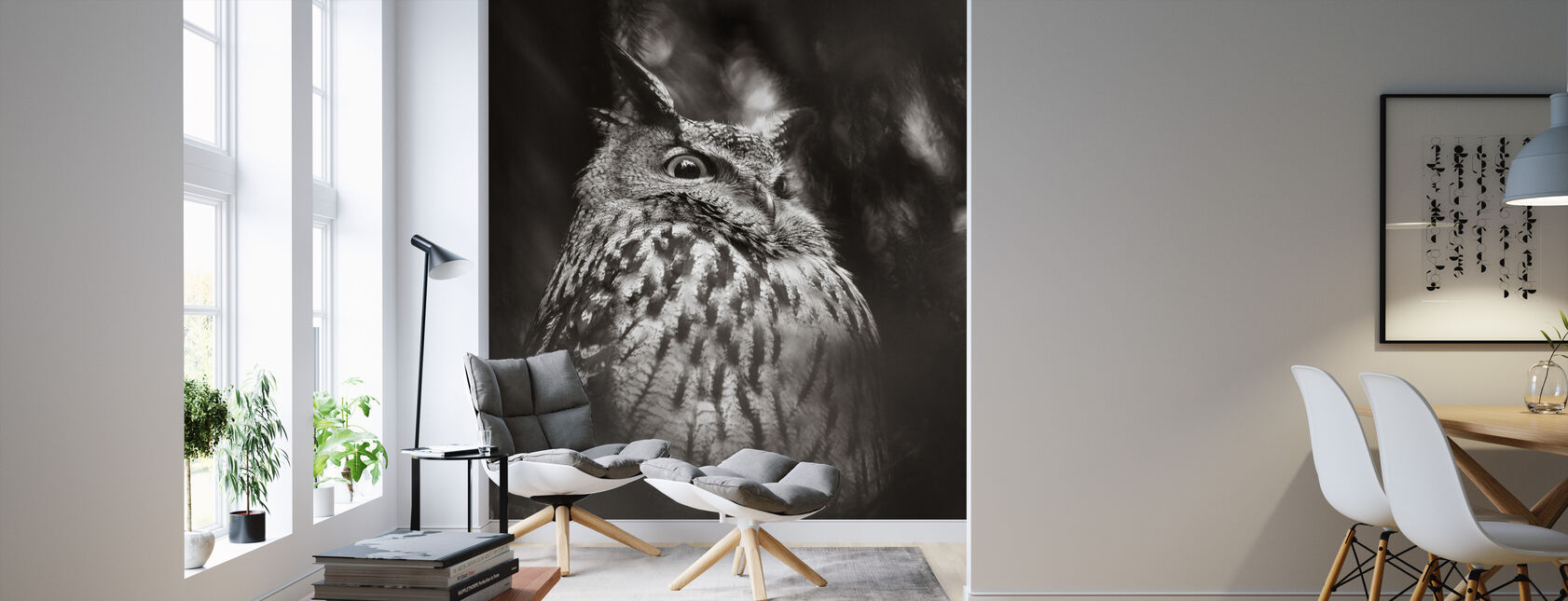 Misty Owl - Wallpaper - Living Room
