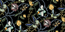 Tapet - Bugs & Butterflies Black - Small