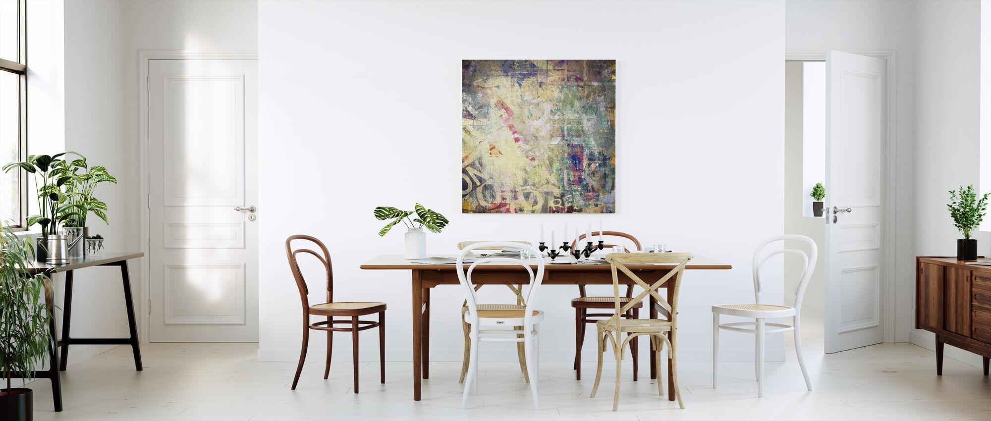 Scherpe kleur textuur - Canvas print - Keuken