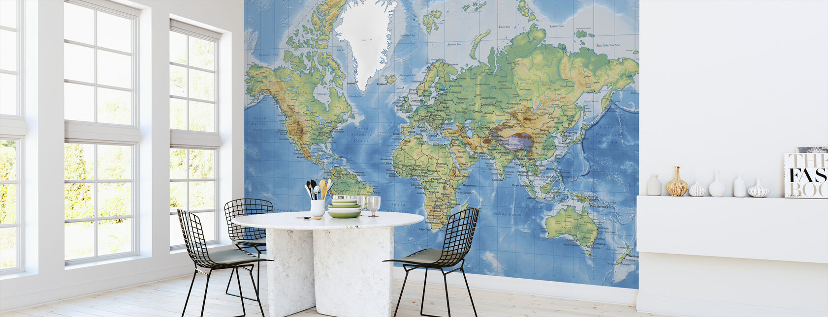 World Map Detailed - Wallpaper - Kitchen