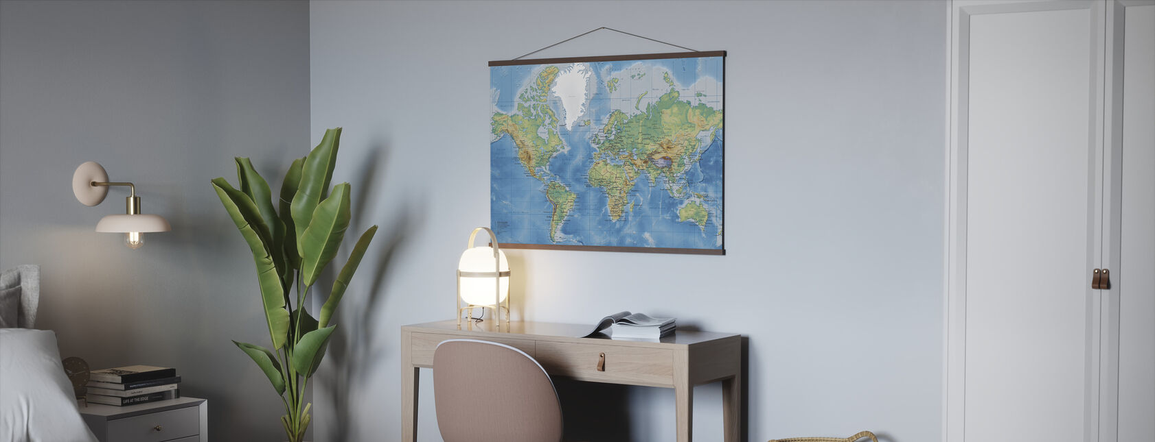 World Map Detailt - Plakat - Kontor