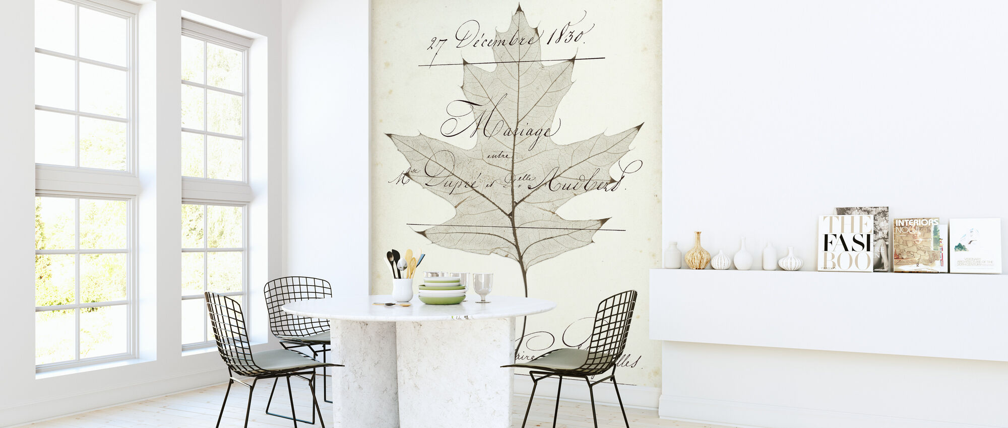 Birch Document - Wallpaper - Kitchen