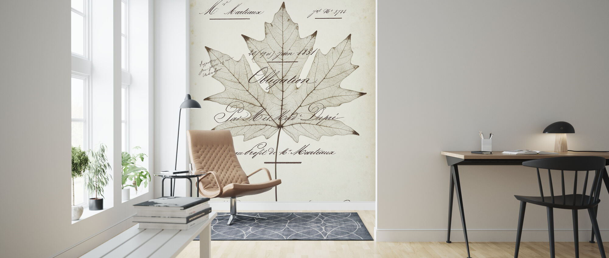 Maple Document - Wallpaper - Living Room