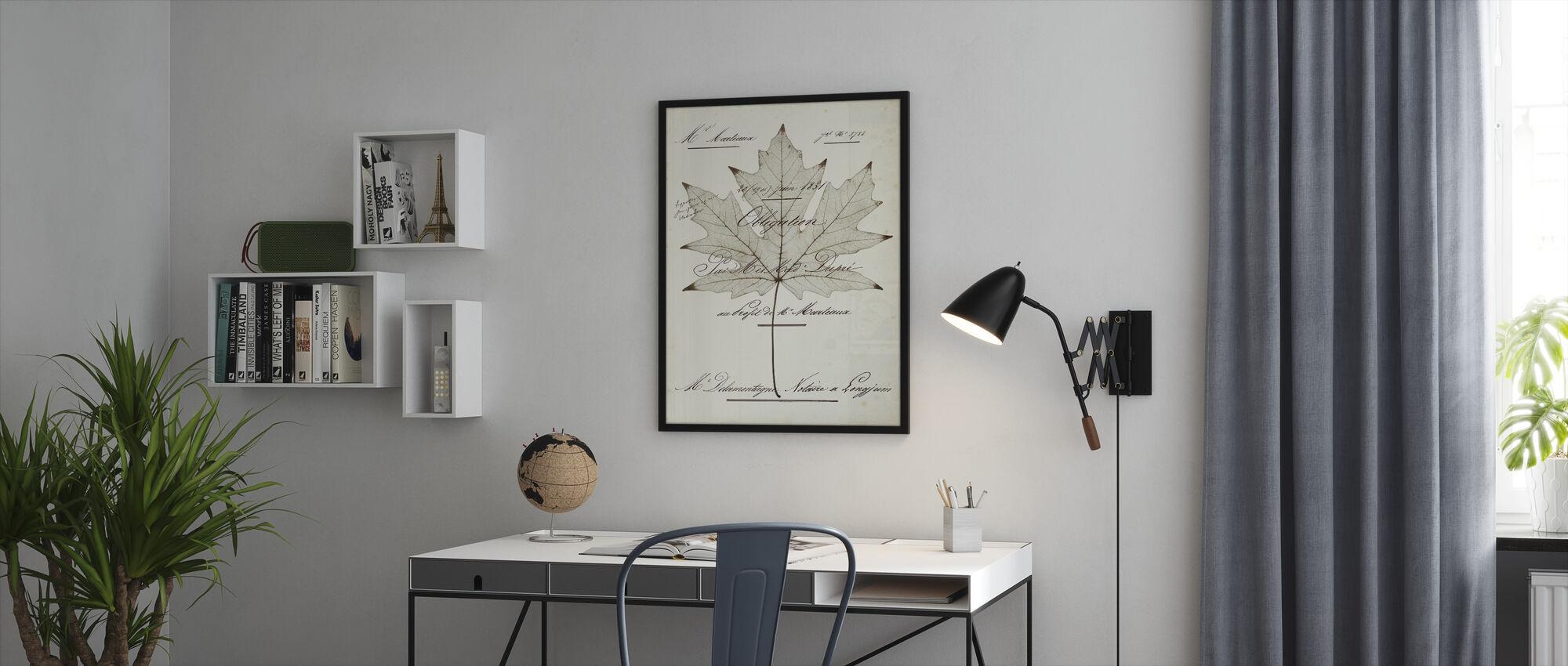 Maple Document - Framed print - Office