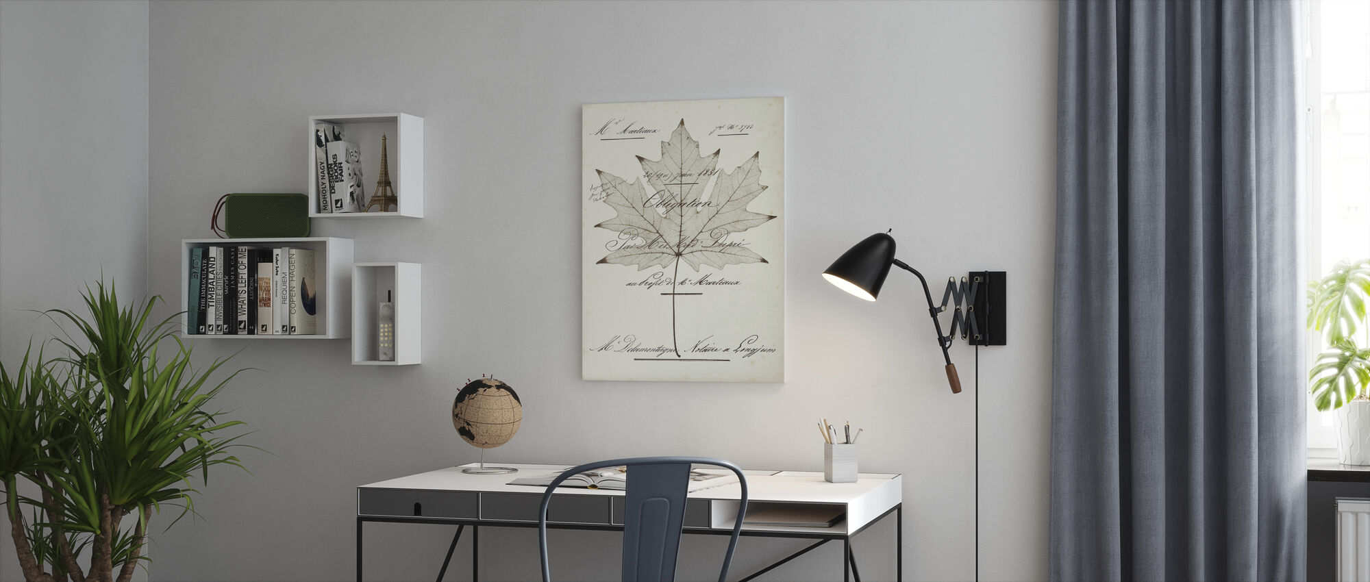 Maple Document - Canvas print - Office