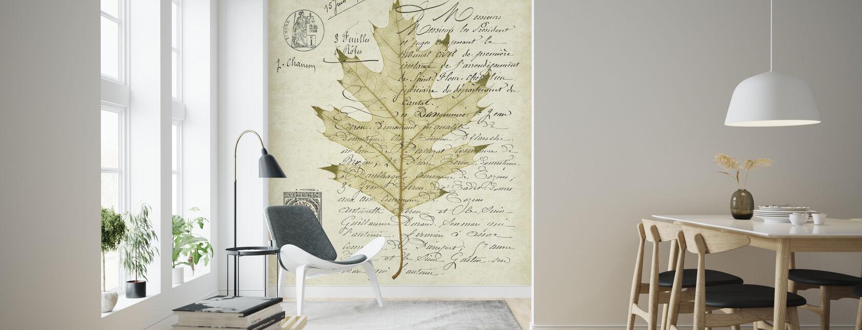 Red Oak Document - Wallpaper - Living Room