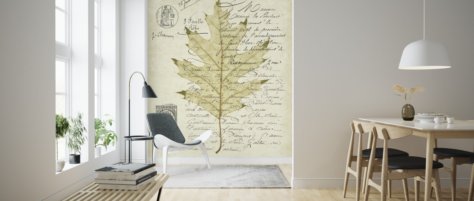 Red Oak Document - Wallpaper - Living Room