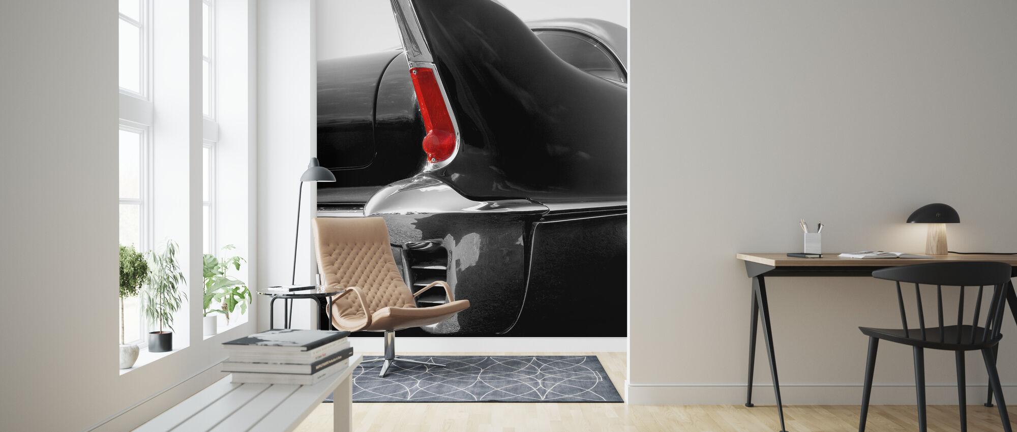 Schwarze Heckflosse - Tapete - Wohnzimmer