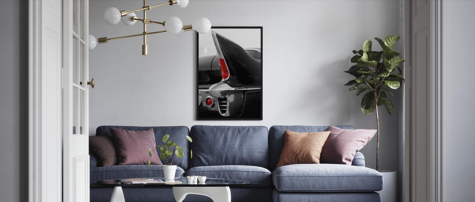 Black Tailfin - Framed print - Living Room