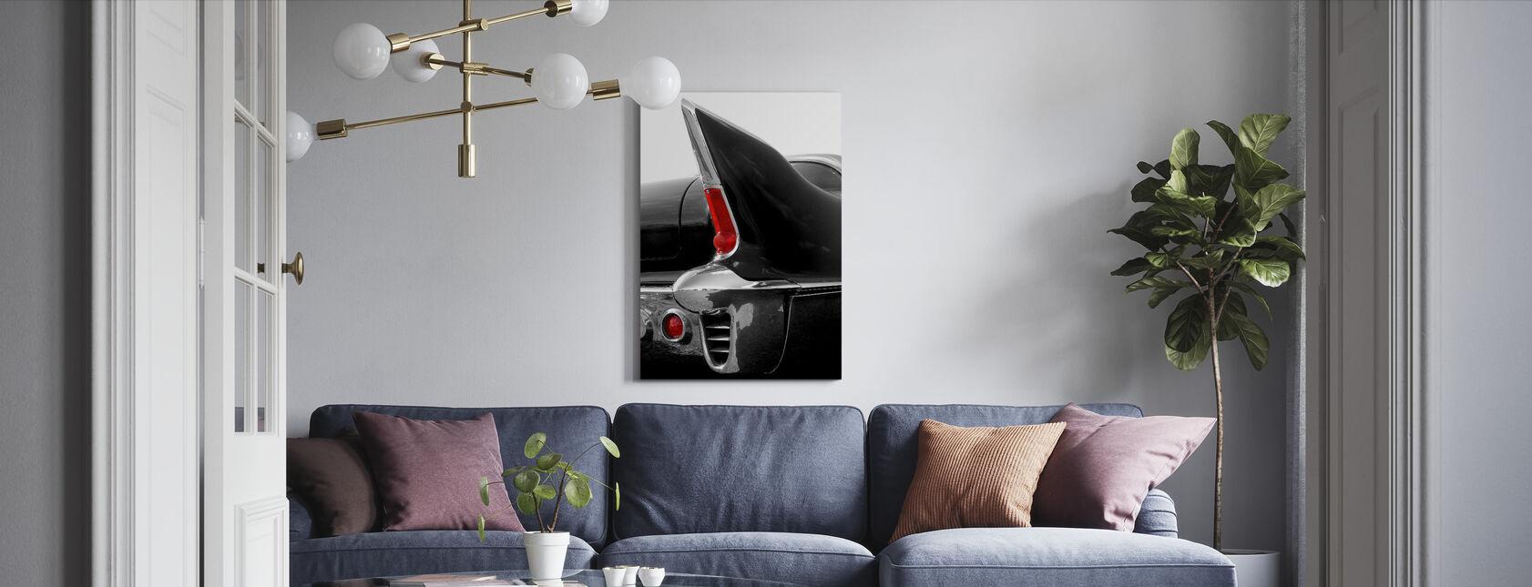 Svart Tailfin - Canvastavla - Vardagsrum