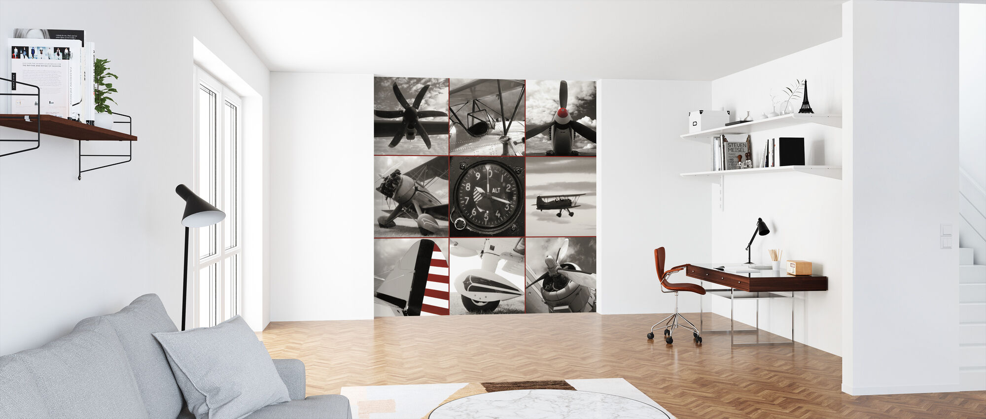 Aircraft Montage - Wallpaper - Office
