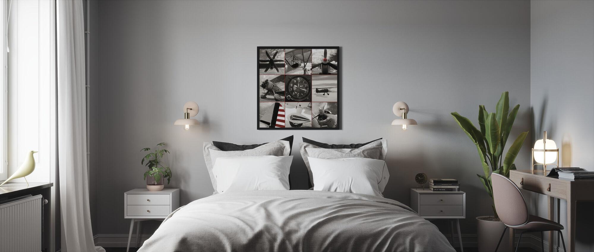 Aircraft Montage - Framed print - Bedroom