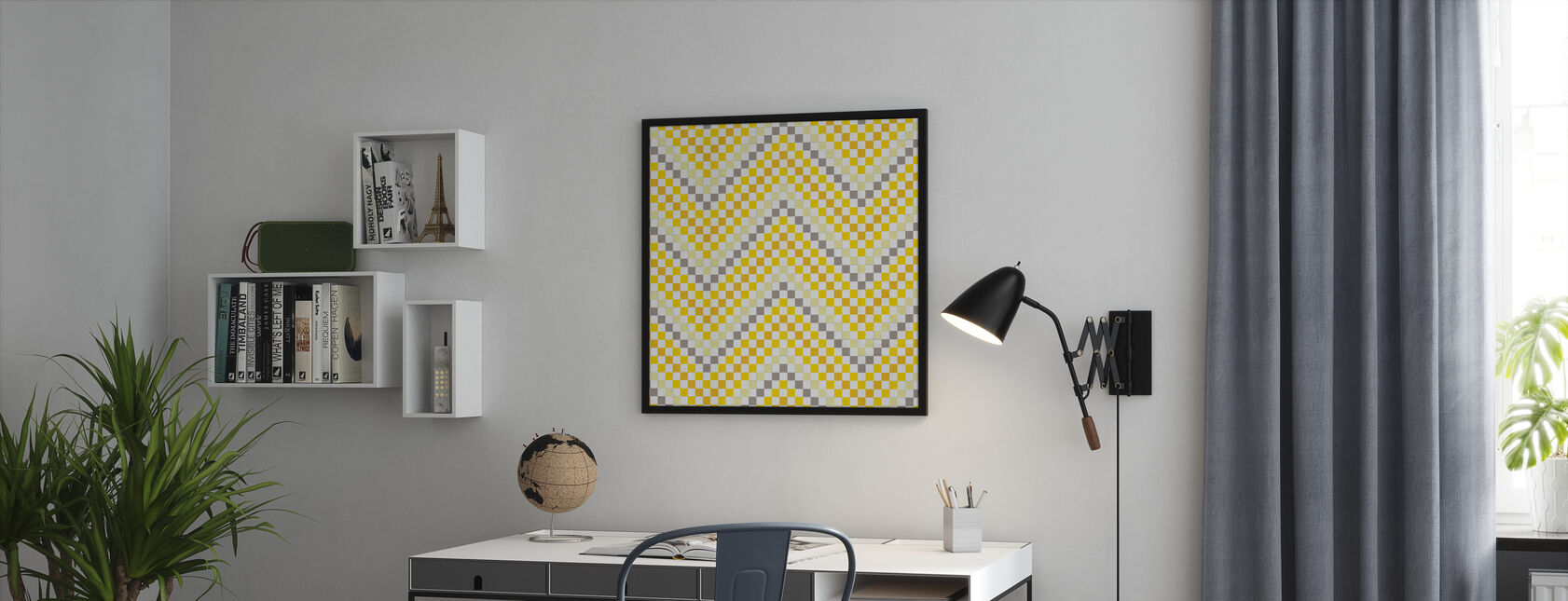 Going Geometric 4 - Framed print - Office