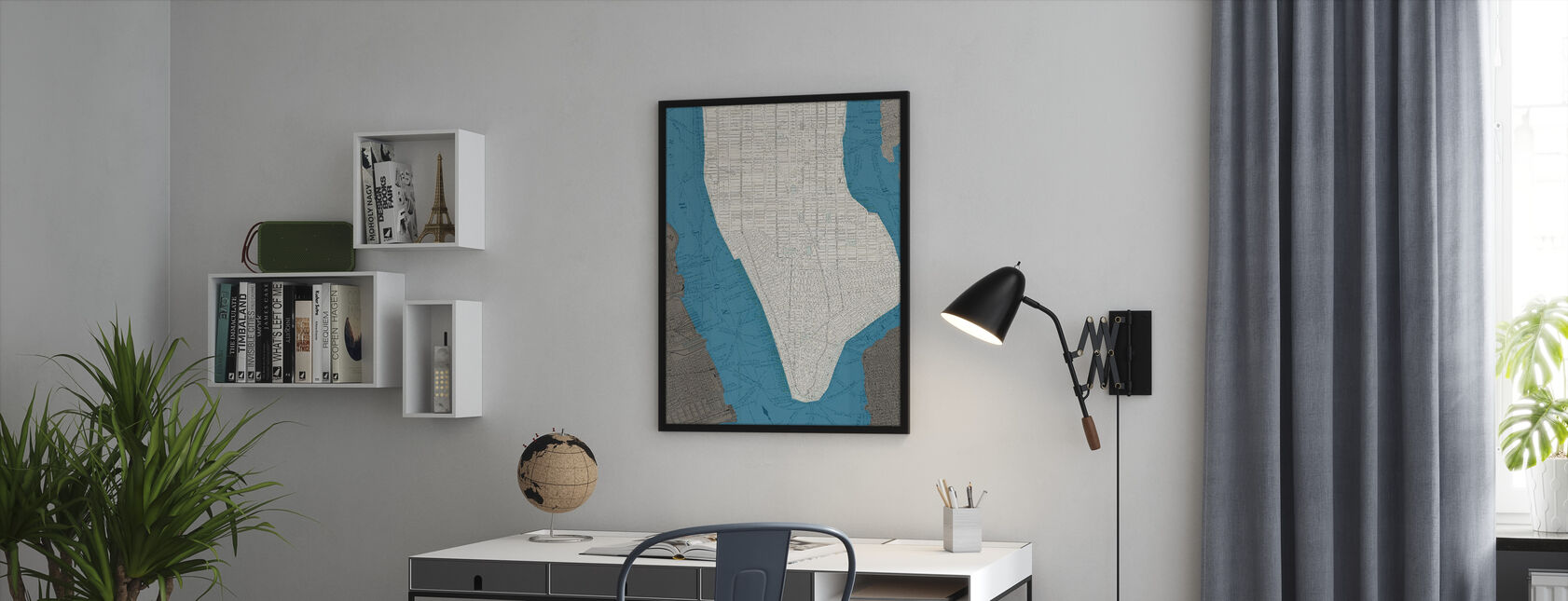 NYC Lower - Framed print - Office