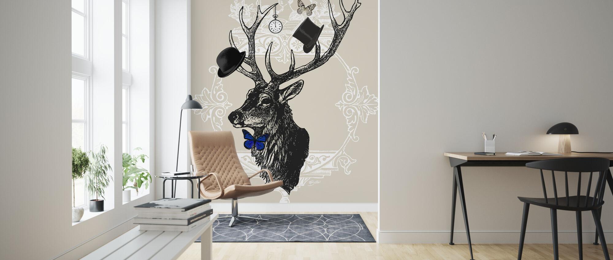Gentleman Stag - Wallpaper - Living Room