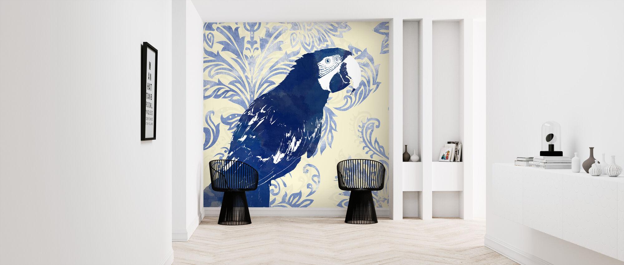 Indigo Parrot 1 - Wallpaper - Hallway