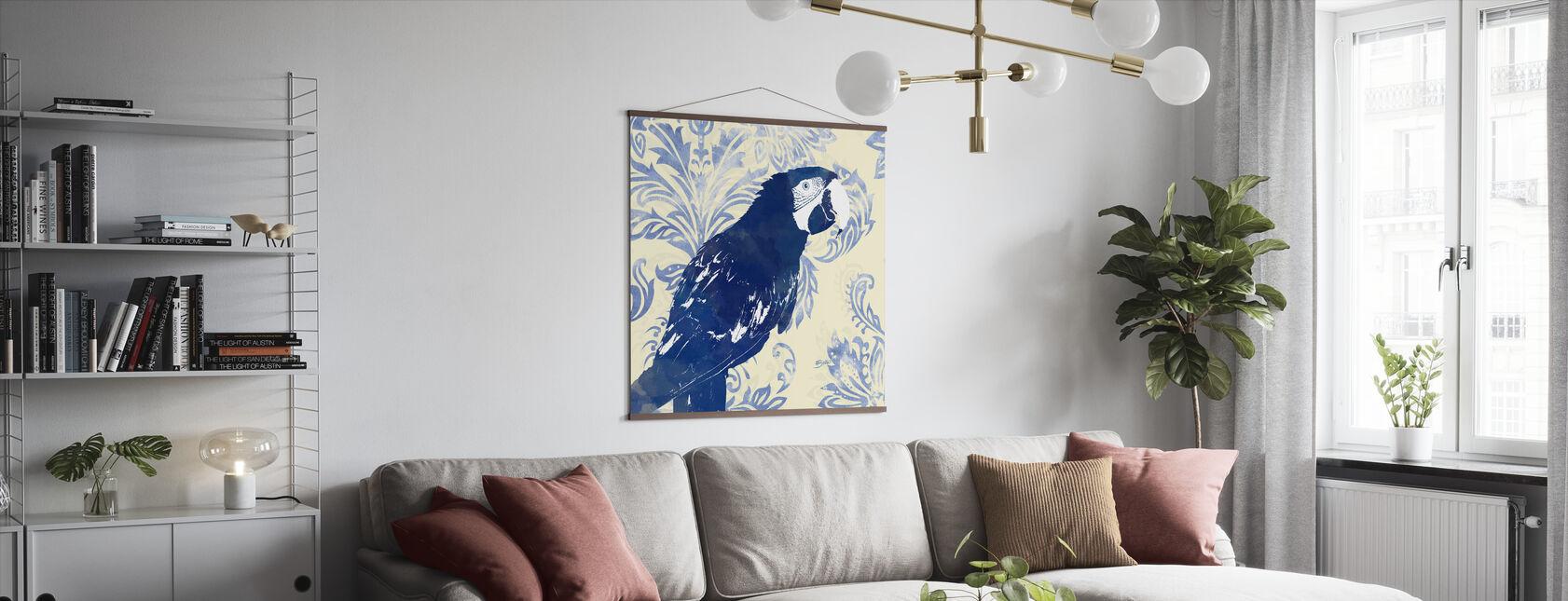 Indigo Parrot 1 - Poster - Living Room