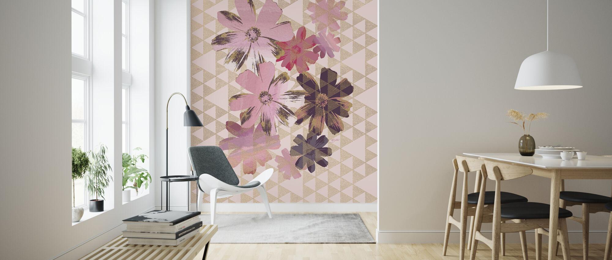 Kimono Daisies 1 - Wallpaper - Living Room