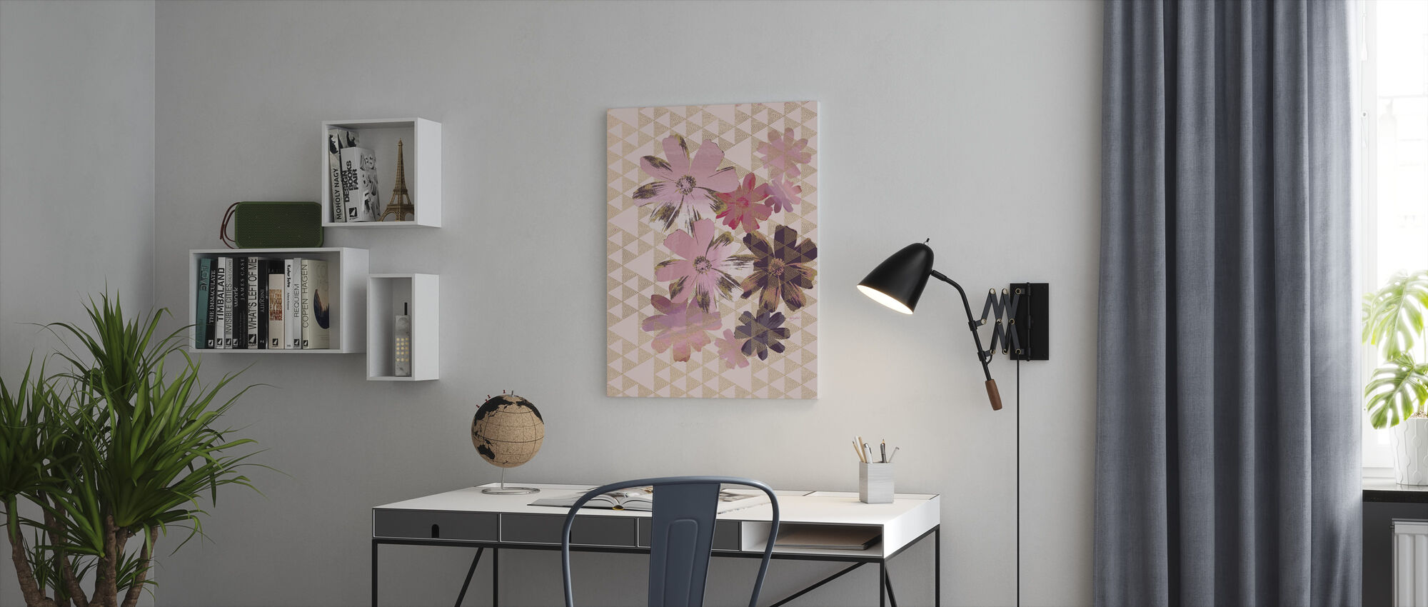 Kimono Daisies 1 - Canvas print - Office