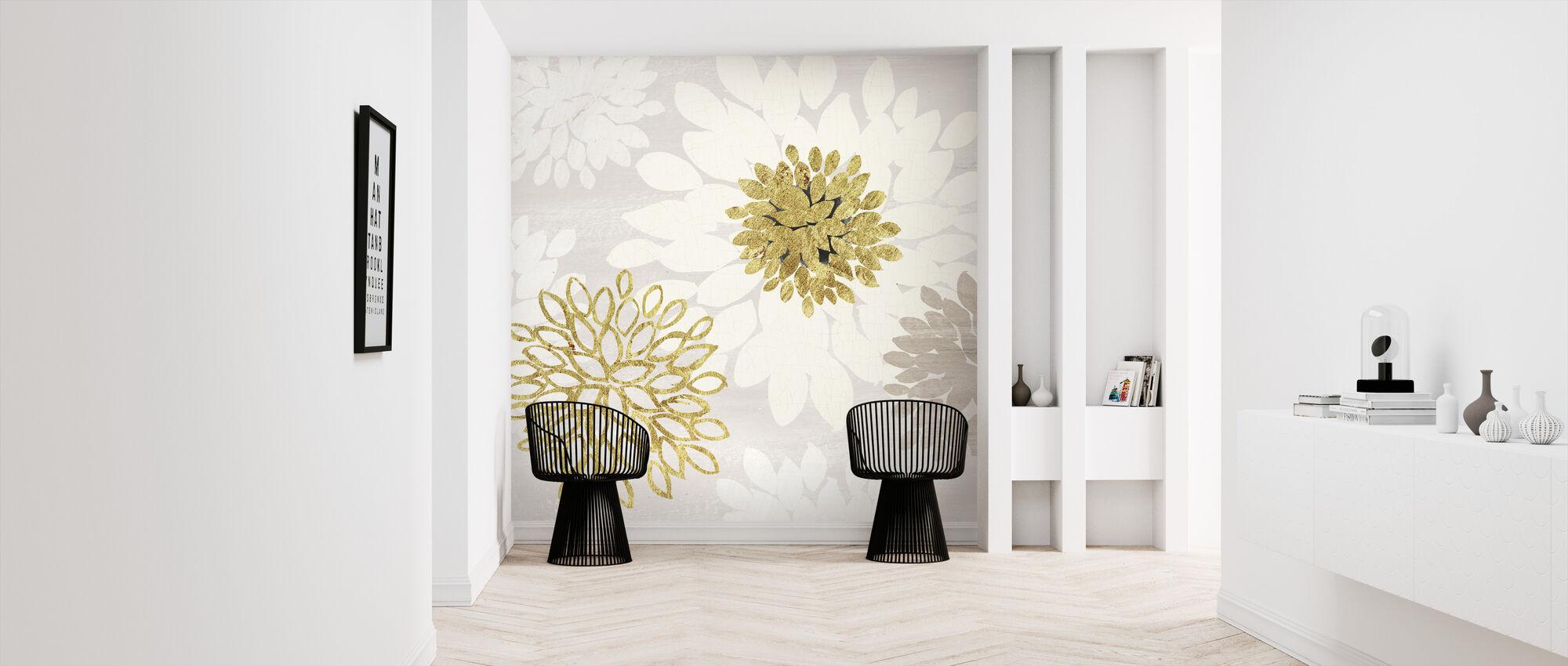 Förgylld estetisk blomning - Tapet - Hall