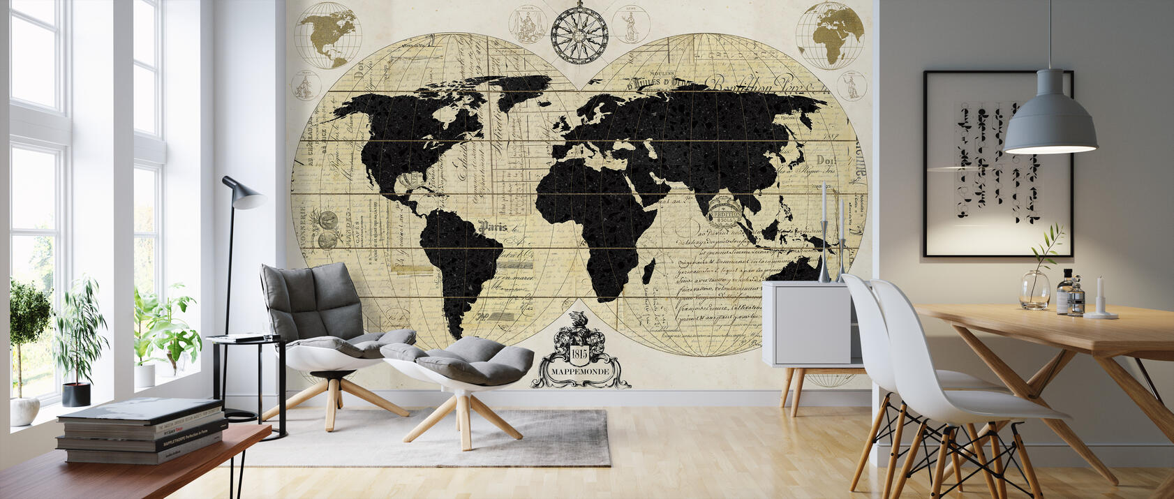 vintage world map kostenlos gelieferte fototapete von. Black Bedroom Furniture Sets. Home Design Ideas