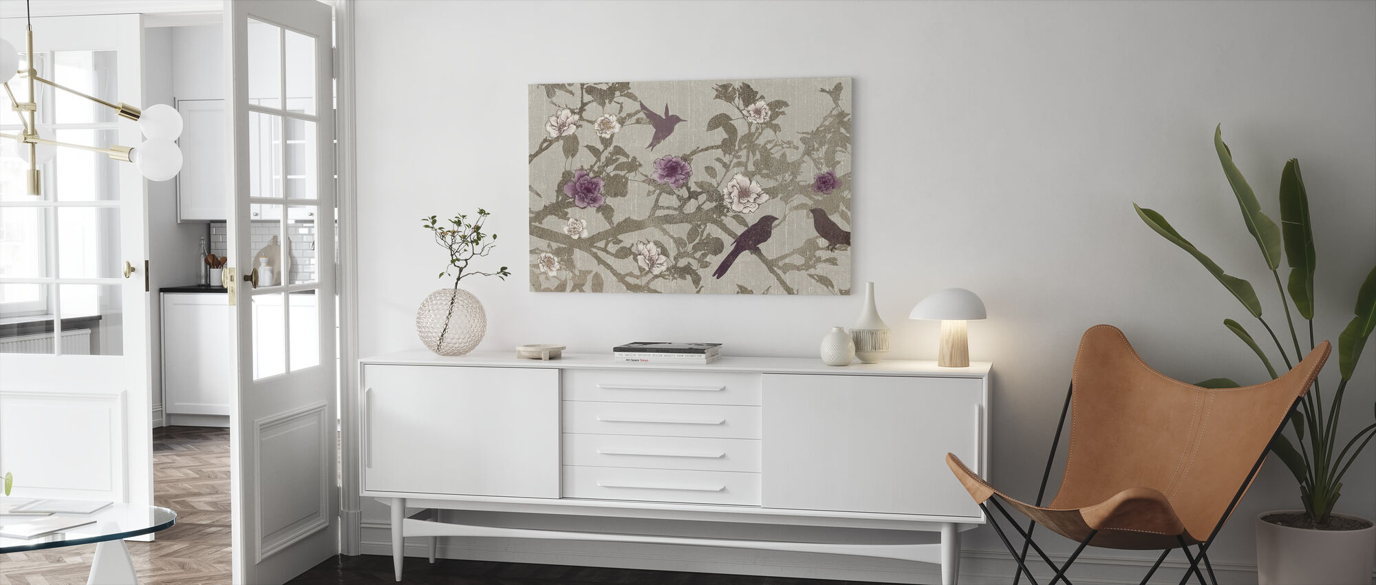 Gilded Branches - Canvas print - Living Room