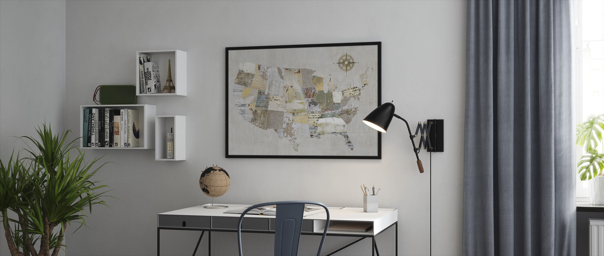 American Textures - Framed print - Office