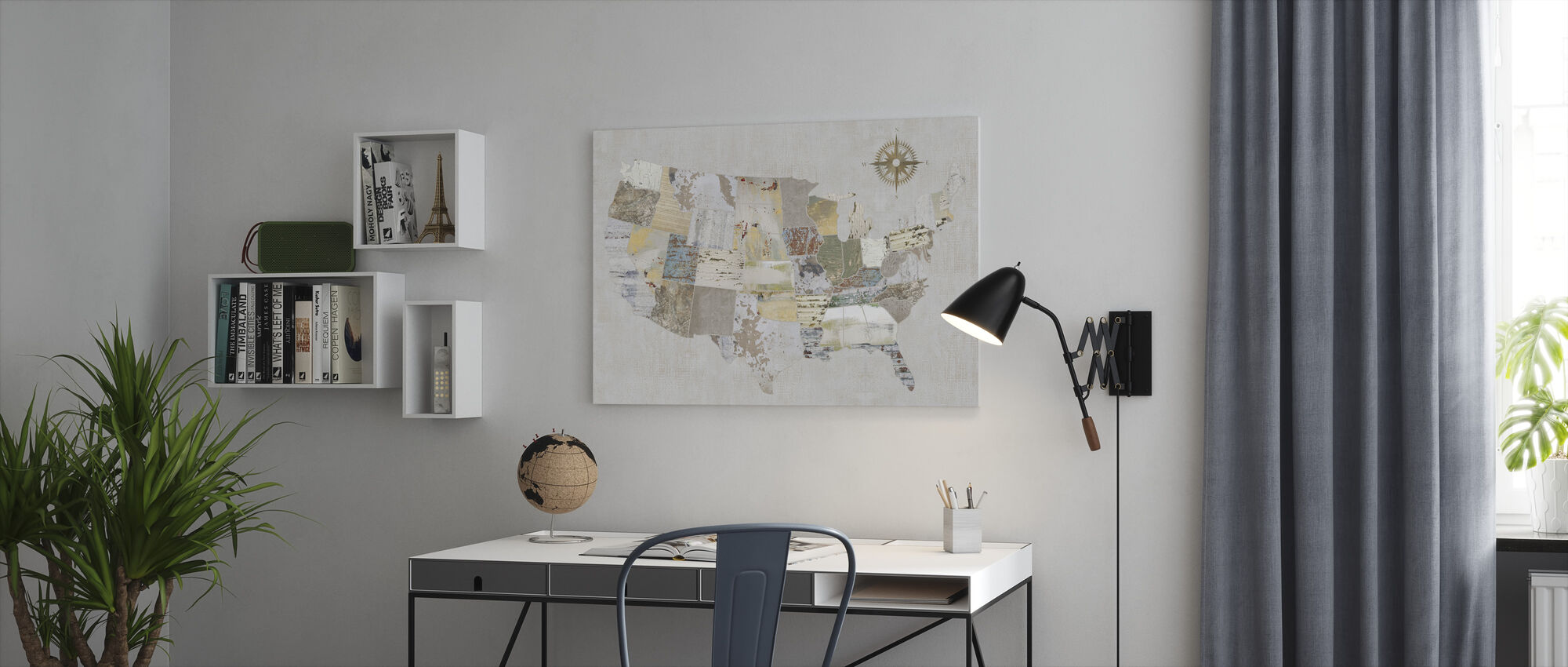 American Textures - Canvas print - Office