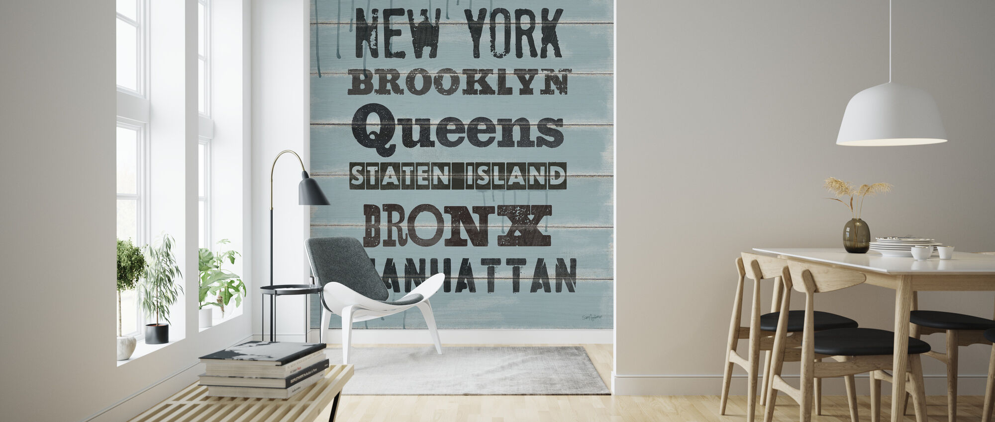 Five Boroughs Painted Cafe - Wallpaper - Living Room