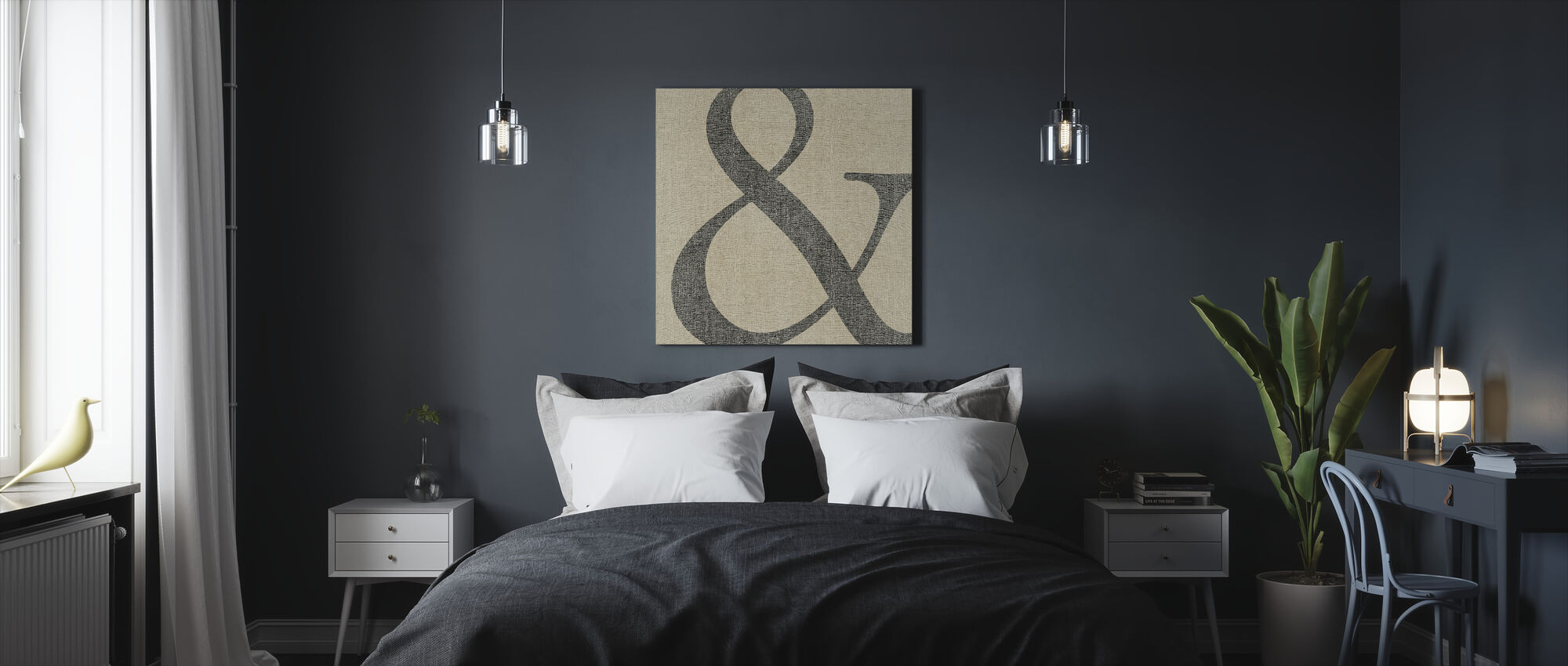 Simple Message And - Canvas print - Bedroom