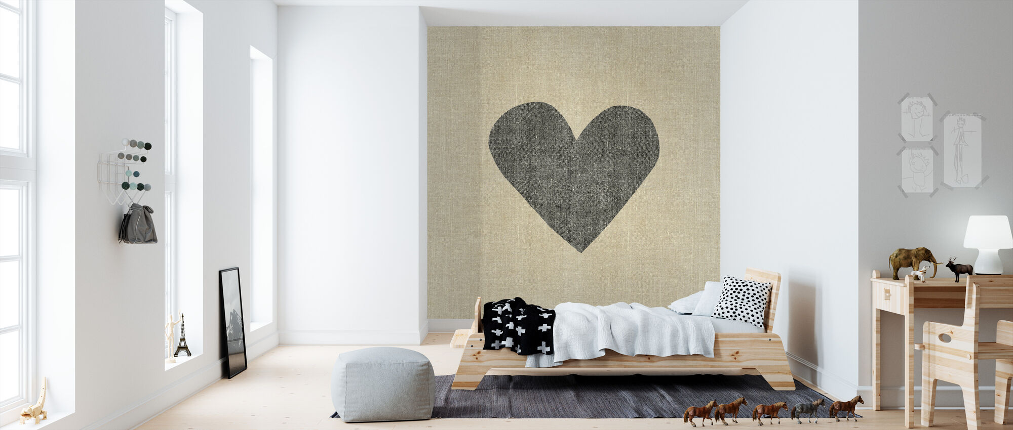 Simple Message Heart - Wallpaper - Kids Room