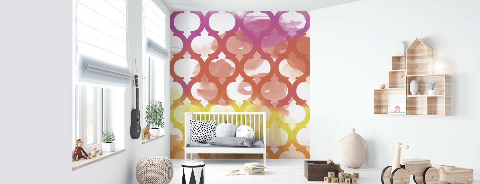 Happiest Lattice Pattern - Wallpaper - Nursery