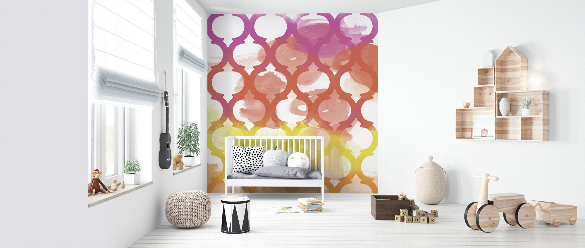 Happiest Lattice Pattern - Wallpaper - Nursery