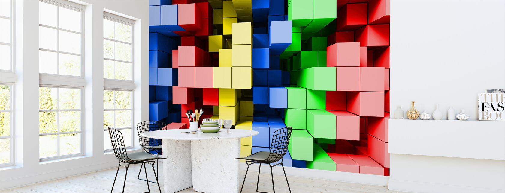 Deep Tetris Color - Wallpaper - Kitchen