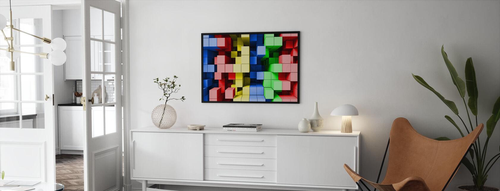 Deep Tetris Color - Framed print - Living Room