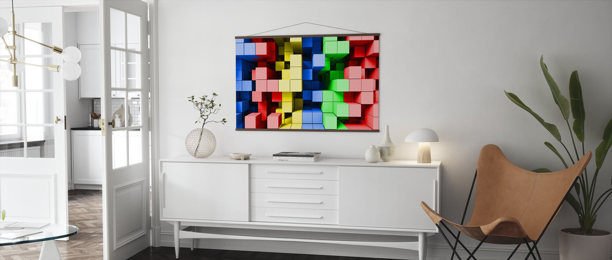 Deep Tetris Color - Poster - Living Room